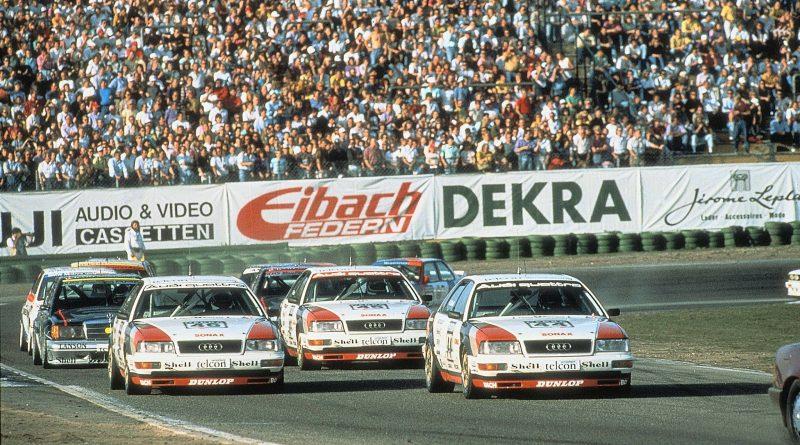 1990: Audi gewinnt mit dem V8 quattro auf Anhieb die DTM