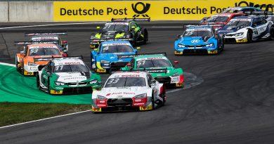 Audi Sport RS 5 DTM #33 (Audi Sport Team Rosberg), René Rast Castrol EDGE Audi RS 5 DTM #51 (Audi Sport Team Abt Sportsline), Nico Müller