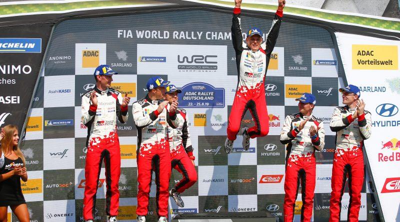ADAC Rallye Deutschland, Toyota Gazoo Racing WRT, Sebastian Marschall, Kris Meeke, Martin Järveoja, Ott Tänak, Miikka Anttila, Jari-Matti Latvala