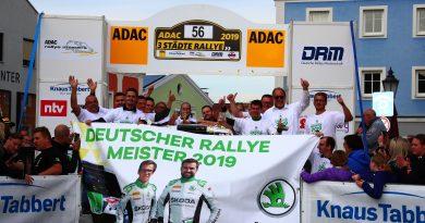Fabian Kreim und Tobias Braun feiern mit Skoda Auto Deutschland den DRM-Titel