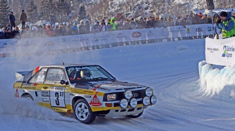 GP Ice Race 2020 in Zell am See Historische Rallyeautos vom Schlage eines Audi Sport quattro sind beim GP Ice Race (1./2. Februar) in Aktion zu sehen.