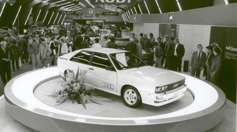Präsentiert beim Automobilsalon in Genf 1980: Der Audi quattro.