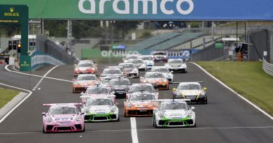 Start, Porsche 911 GT3 Cup, Dylan Pereira (L), Ayhancan Güven (TR), Marvin Klein (F), Larry ten Voorde (NL), Porsche Mobil 1 Supercup, Budapest 2020