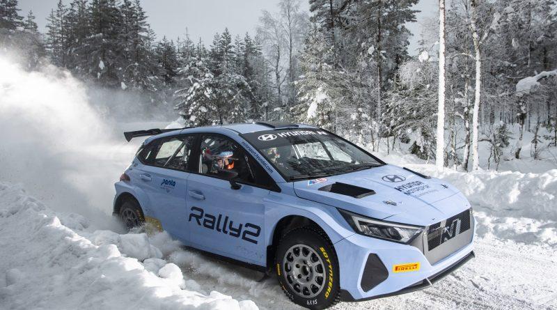 Hyundai testet den i20 N Rally2 für die Arctic-Rally